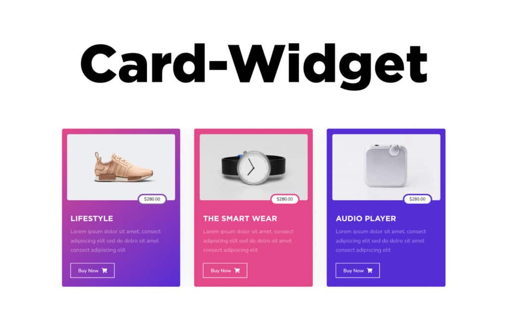 TYPORY Cloud Card Widget