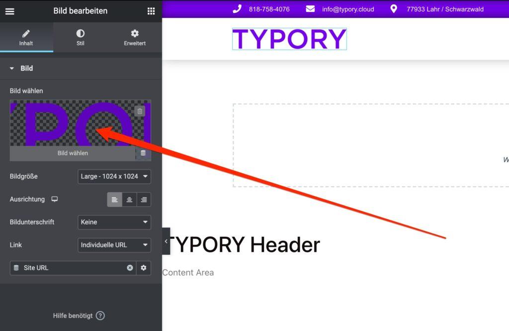 TYPORY Logo ändern