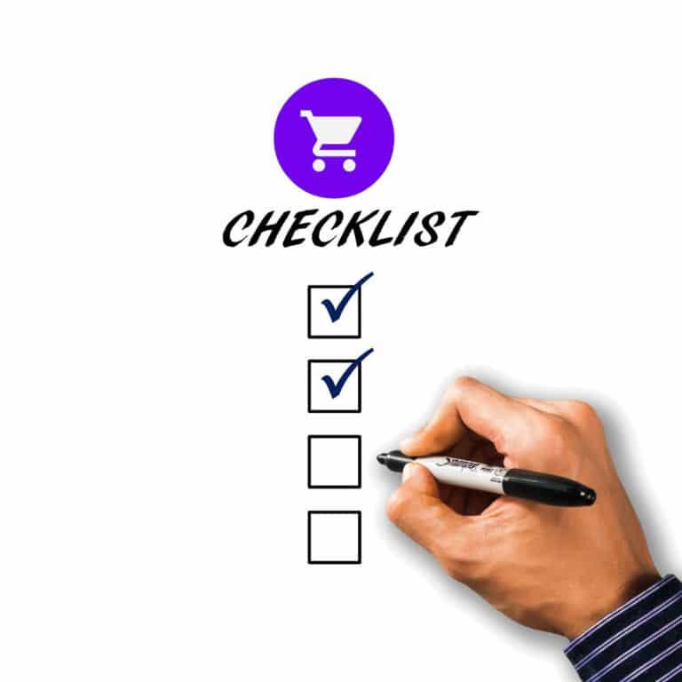 Checklist Online Shop