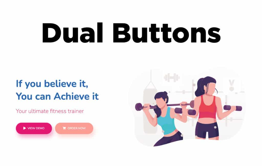 TYPORY Cloud Dual Buttons