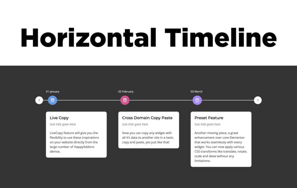 TYPORY Cloud Horizontal Timeline