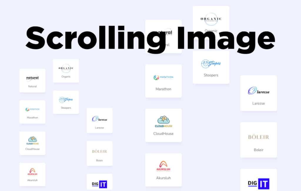 TYPORY Cloud Scrolling Image